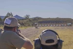 Shooting the moving moose at Gunsite.
