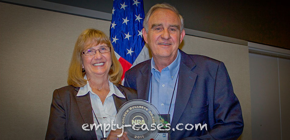 Melvin Forbes and his wife Patty receiving the Pioneer Award from the National Rifle Association.